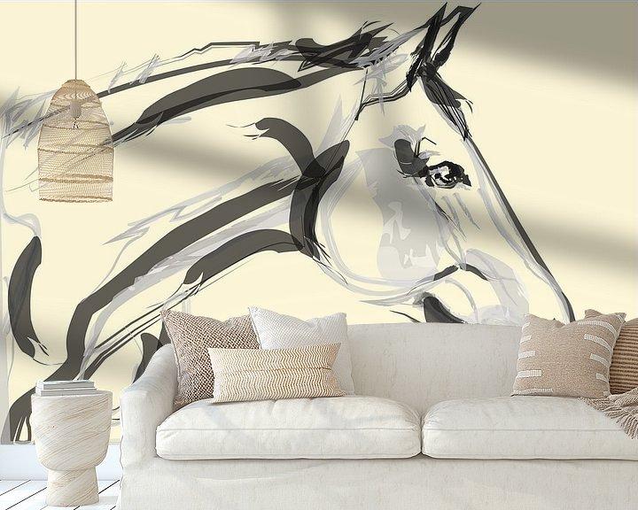 Sfeerimpressie behang: Paard Lovely van Go van Kampen