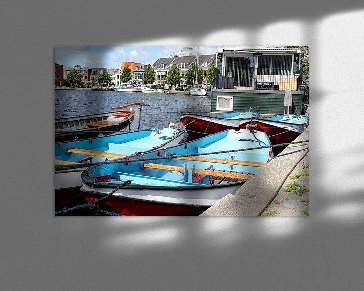 Sfeerimpressie: bootjes in Holland van Erik Koks