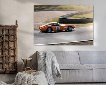 Marcos 1800 GT tijdens race op circuit Zandvoort von Arjen Schippers
