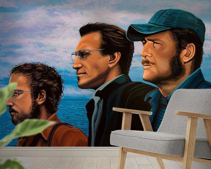Sfeerimpressie behang: Jaws Schilderij van Paul Meijering