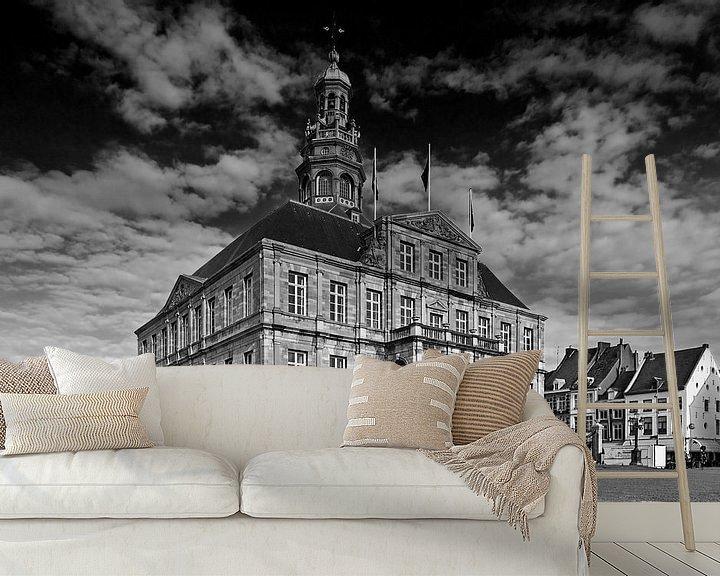 Beispiel fototapete: Halle Maastricht schwarz / weiß von Anton de Zeeuw