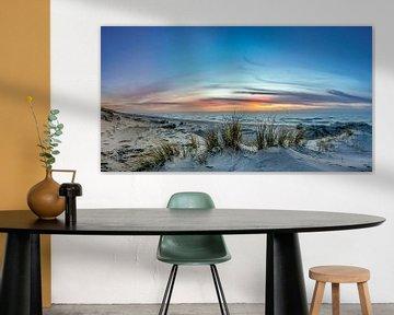 paal 21 texel zonsondergang von Texel360Fotografie Richard Heerschap