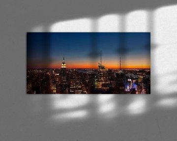 Zonsondergang New York von Michiel Mos