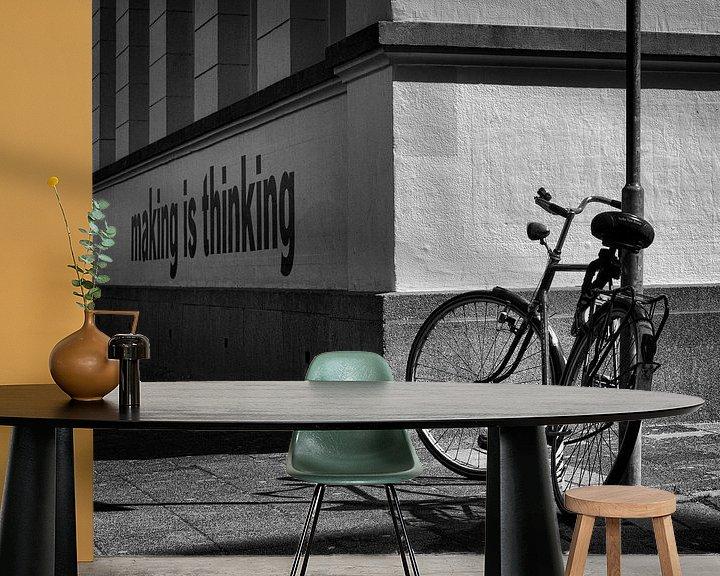 Sfeerimpressie behang: Making is thinking van Rob van der Teen
