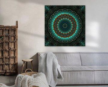 Mandala-Illusion grün von Marion Tenbergen