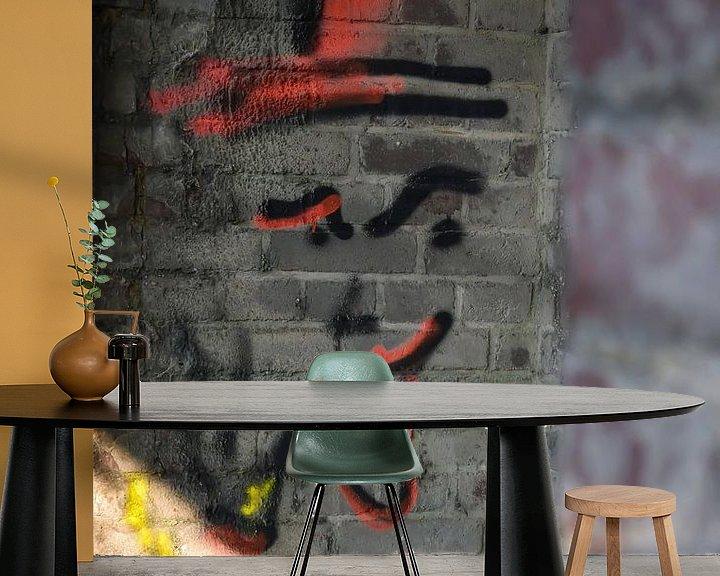 Beispiel fototapete: Mauer mit Graffiti von Julian Röhr