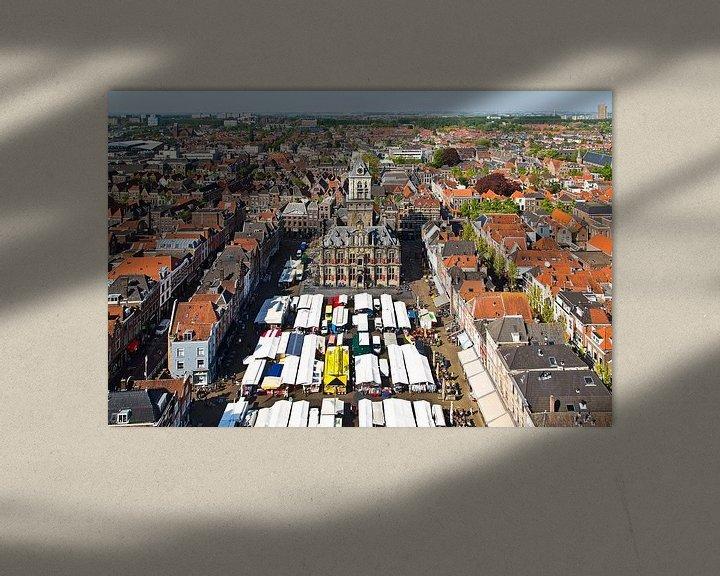 Sfeerimpressie: Markt Delft van Anton de Zeeuw
