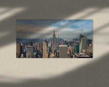 New York - Empire State Building in de vroege ochtend van Toon van den Einde
