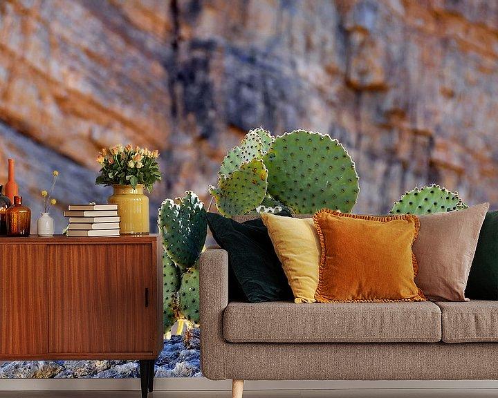 Sfeerimpressie behang: Stoere Cactussen van Paul van Baardwijk
