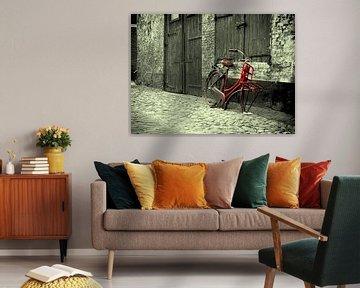 Oude fiets in Elburg van PictureWork - Digital artist