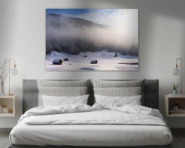 Winter morning in Germany van Vincent Fennis