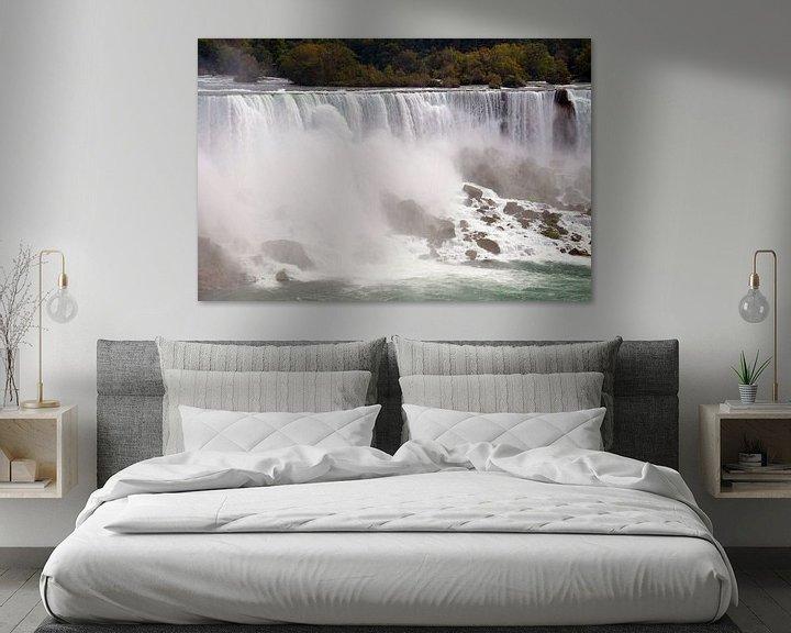 Sfeerimpressie: Niagara Falls, gezien vanuit Canada van Paul van Baardwijk
