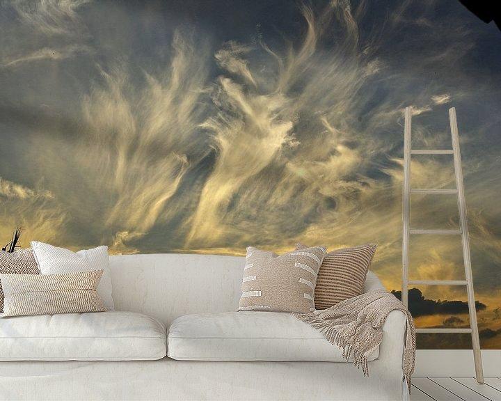 Sfeerimpressie behang: Sunset Dance in Midrand van Christiane Behrmann