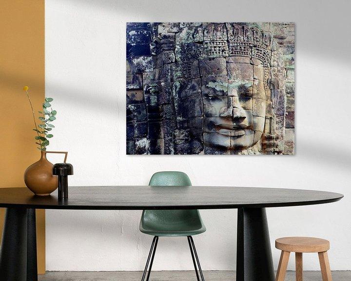 Beispiel: Verwittertes Gesicht, Angkor Thom von Inge Hogenbijl