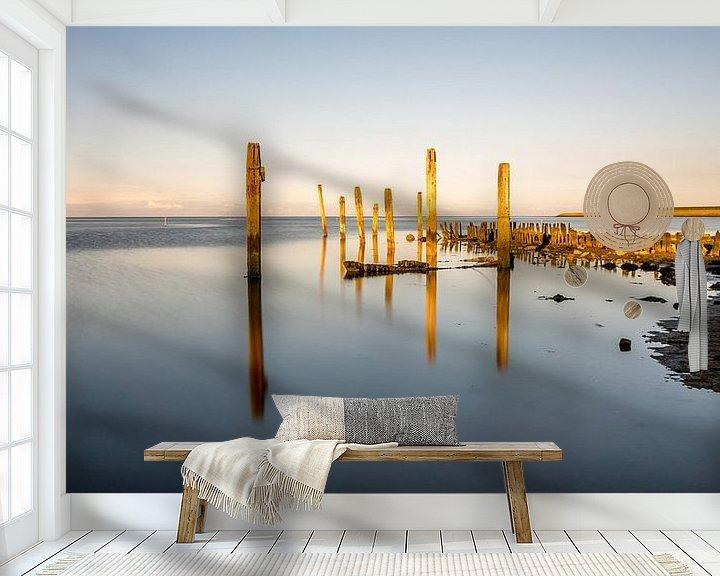 Sfeerimpressie behang: Haven van Sil Cocksdorp Texel van Texel360Fotografie Richard Heerschap