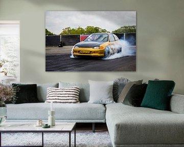 Dragrace Honda Civic von Sim Van Gyseghem