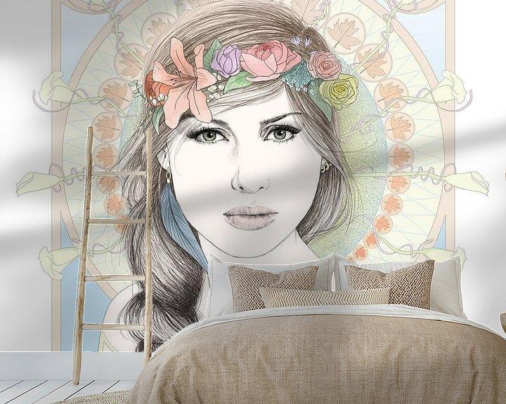 Sfeerimpressie behang: Spring van Anne Oszkiel-van den Belt