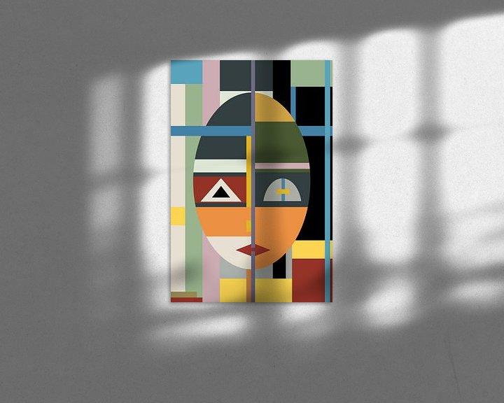 Beispiel: Face modern Art von Marion Tenbergen