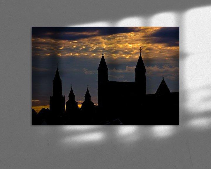 Sfeerimpressie: Kerken skyline van Maastricht van Anton de Zeeuw
