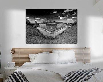 Fort Sint Pieter Maastricht zwart / wit