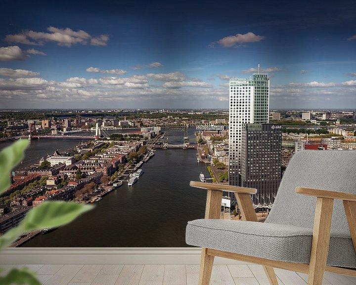 Sfeerimpressie behang: Bruggenstad Rotterdam van Ronne Vinkx