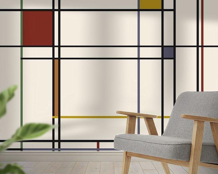 Beispiel fototapete: Lines-Piet Mondrian von Marion Tenbergen