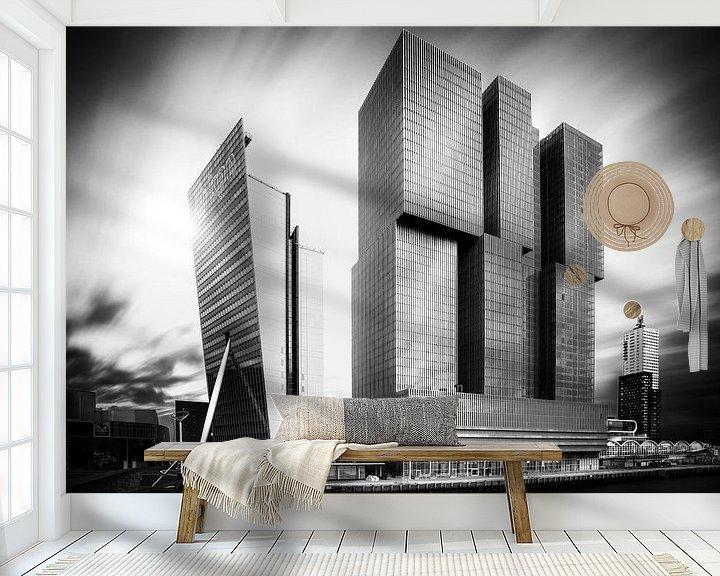 Sfeerimpressie behang: De Rotterdam met extreem lange sluitertijd van Prachtig Rotterdam
