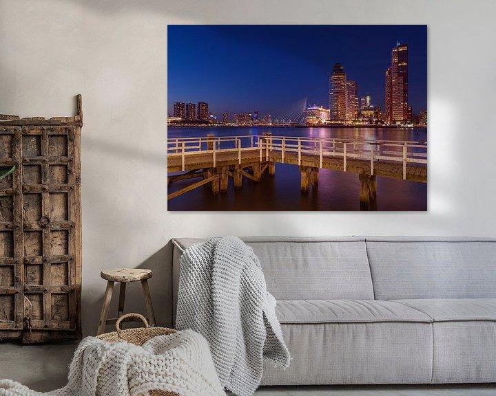 Sfeerimpressie: Rotterdam vanaf Katendrecht van Ronne Vinkx