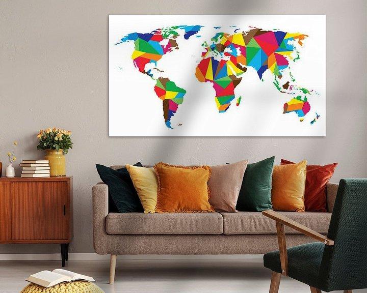Impression: United Colors Worldmap sur Wereldkaarten.Shop