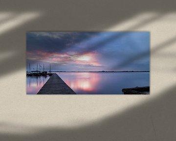 Long Exposure zonsondergang Schildmeer sur Arline Photography