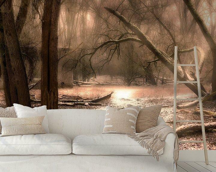 Sfeerimpressie behang: Sneeuw in het bos van Tim Abeln