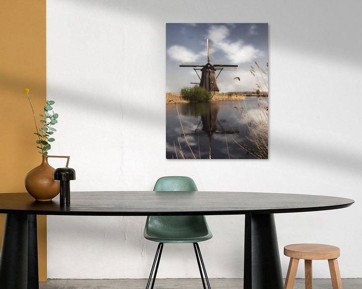 Sfeerimpressie: Een molen in Kinderdijk van Tim Abeln