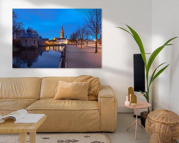 Beispiel: Blaue Stunde in Breda von Martijn Mureau