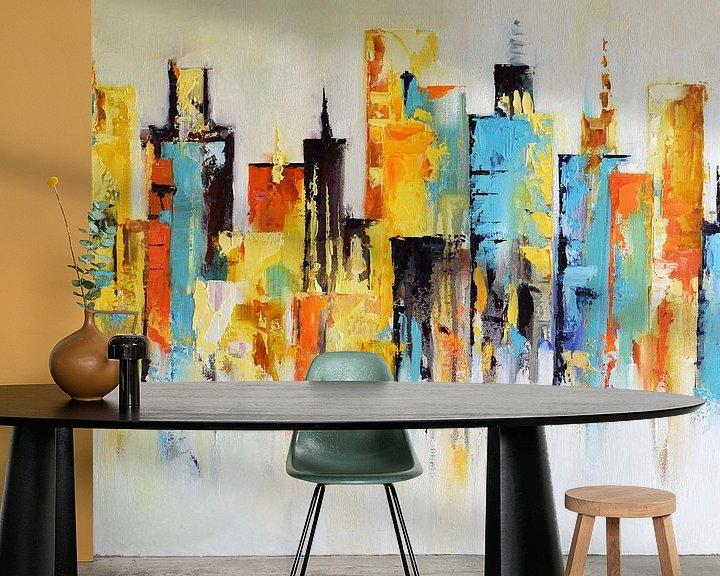 Beispiel fototapete: Sunset City von Maria Kitano