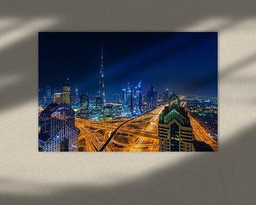 Dubai by Night - Burj Khalifa en Downtown Dubai - 6