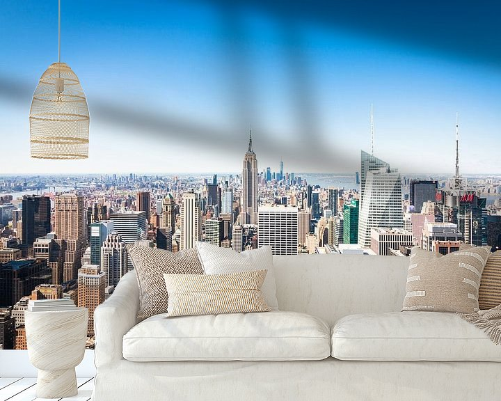 Sfeerimpressie behang: Skyline van New York (Manhattan) van Frenk Volt