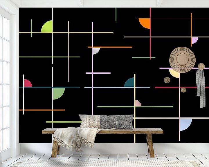 Beispiel fototapete: Colorful-lines von Marion Tenbergen