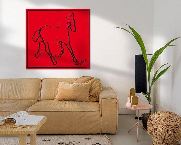 Beispiel: Fohlen rotes Stutfohlen von Go van Kampen