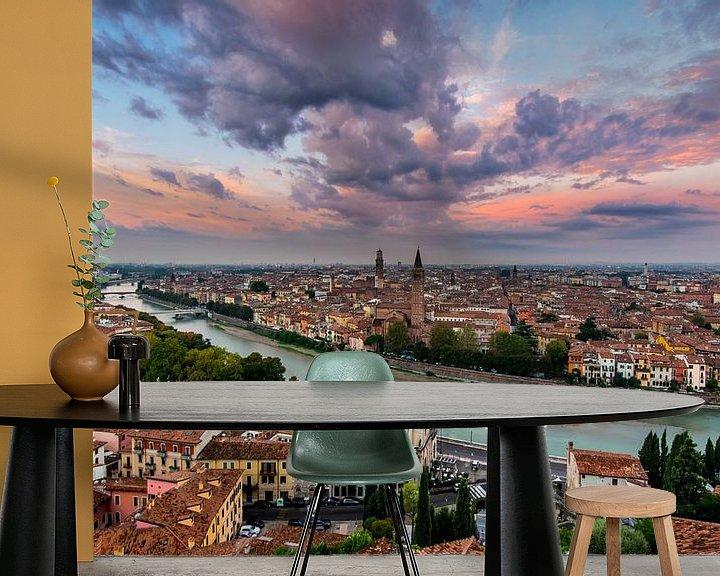 Sfeerimpressie behang: Verona, Italie  van Thomas Bartelds
