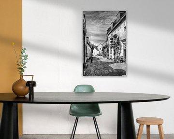 Herlevend verleden, Muurhuizen historisch Amersfoort, zwartwit von Watze D. de Haan