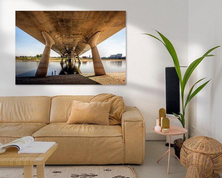 Sfeerimpressie: Under the bridge Nijmegen van Hans Hebbink