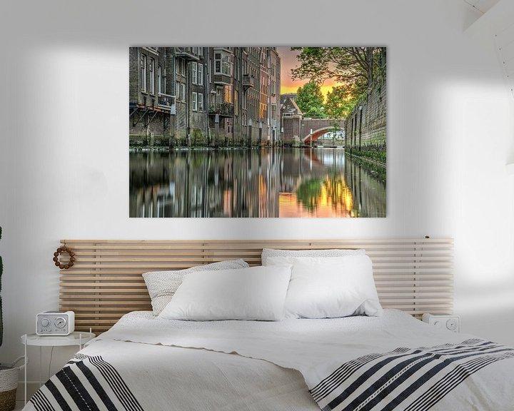 Sfeerimpressie: Avond in Dordrecht van Frans Blok