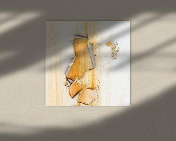 Roestig wit en geel  - studie 4 van Texel eXperience
