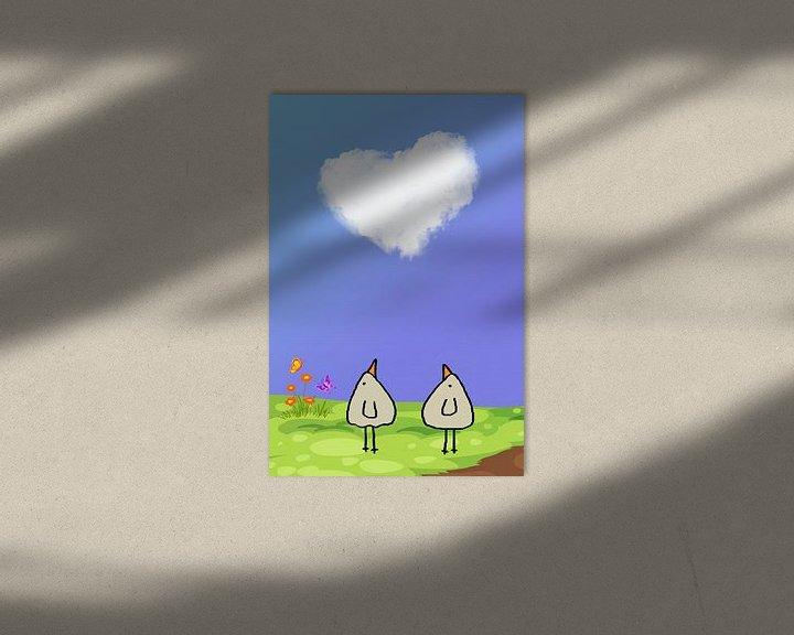 Beispiel: eine Love Wolke-PiepVogel von Marion Tenbergen