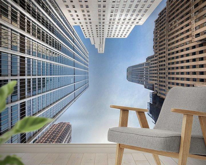 Sfeerimpressie behang: Manhattan in New York van Mark De Rooij