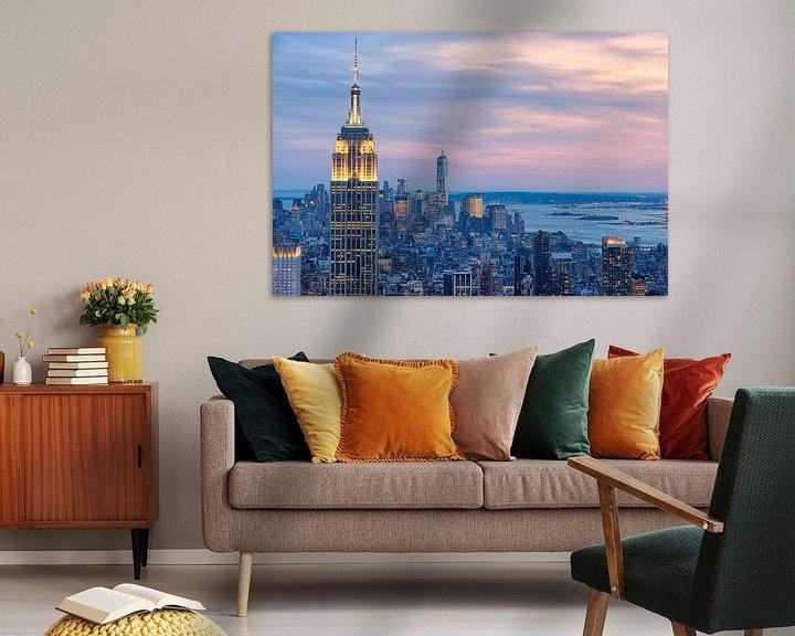 Sfeerimpressie: Manhattan vanaf Top of de Rock (Rockefeller Center) van Mark De Rooij