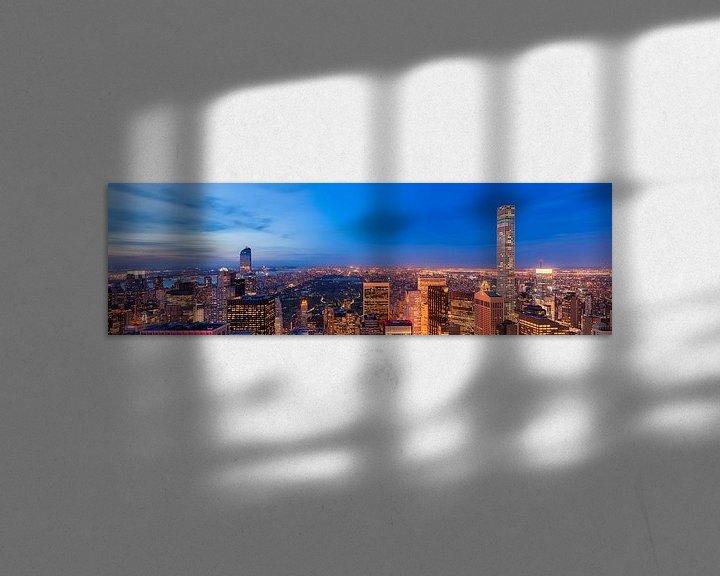 Sfeerimpressie: Central Park en Upper Side Manhattan van Top of the Rock van Mark De Rooij