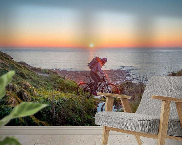 Impression: Bike at sea with sunset sur Ruben Dario