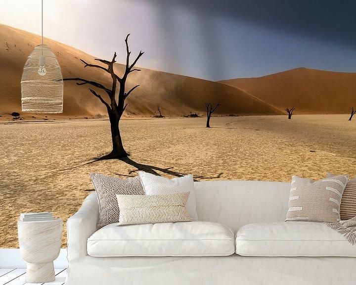 Sfeerimpressie behang: Deadvlei in Namibie van Monique Landman