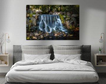 Waterval in Sonsbeek Park van Tim Abeln
